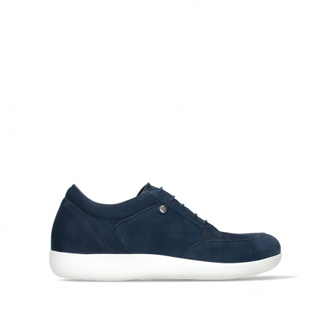 wolky lace up shoes 04076 basis 10870 blue nubuck