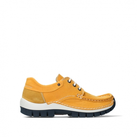 wolky lace up shoes 04701 fly 11558 yelloworange blue nubuck
