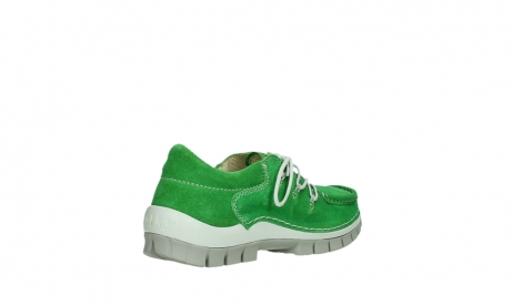 wolky lace up shoes 04710 side 40740 applegreen oiled suede_22