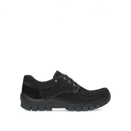 wolky lace up shoes 04726 fly winter 16000 black nubuck