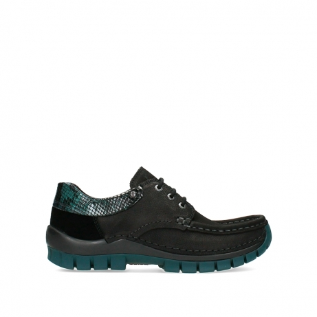 wolky lace up shoes 04726 fly winter 19088 black petrol nubuck