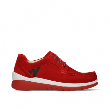 wolky lace up shoes 04853 time 11570 red nubuck