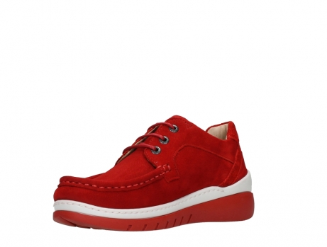 wolky lace up shoes 04853 time 11570 red nubuck_10