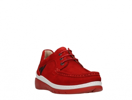 wolky lace up shoes 04853 time 11570 red nubuck_5