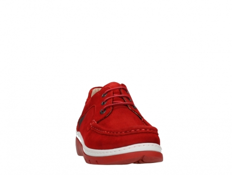 wolky lace up shoes 04853 time 11570 red nubuck_6
