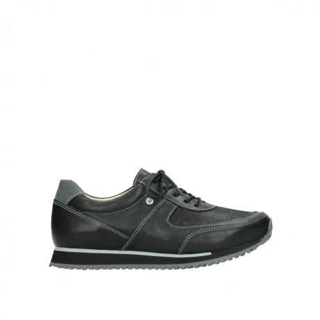 wolky lace up shoes 05803 e sneaker 20009 black stretch leather