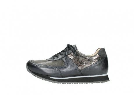 05806 e Sneaker 86210 anthracite stretch leather
