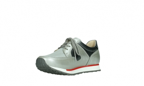 wolky lace up shoes 05811 e walk xw 87130 silver grey pearl stretch leather_10