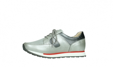 wolky lace up shoes 05811 e walk xw 87130 silver grey pearl stretch leather_12