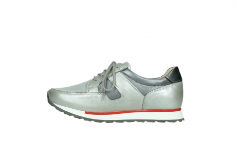 wolky lace up shoes 05811 e walk xw 87130 silver grey pearl stretch leather_13