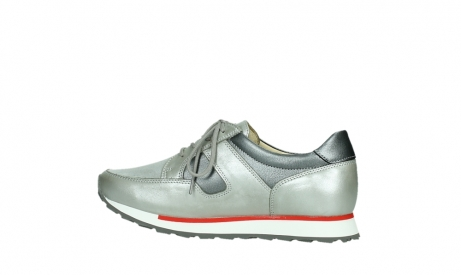 wolky lace up shoes 05811 e walk xw 87130 silver grey pearl stretch leather_14