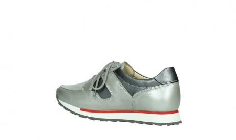 wolky lace up shoes 05811 e walk xw 87130 silver grey pearl stretch leather_15