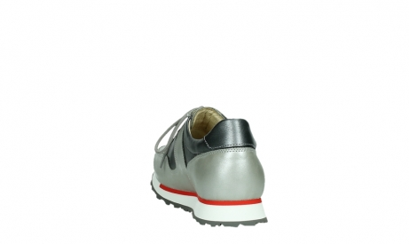 wolky lace up shoes 05811 e walk xw 87130 silver grey pearl stretch leather_18