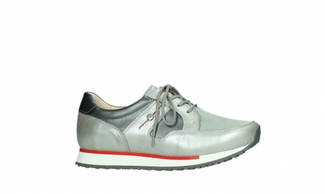 wolky lace up shoes 05811 e walk xw 87130 silver grey pearl stretch leather_2