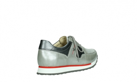 wolky lace up shoes 05811 e walk xw 87130 silver grey pearl stretch leather_22