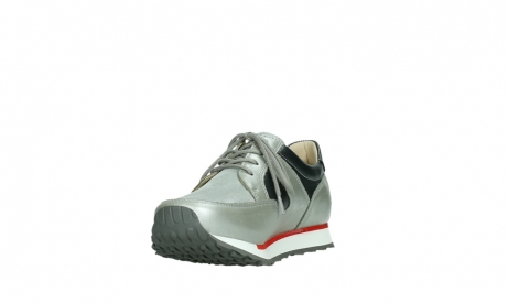 wolky lace up shoes 05811 e walk xw 87130 silver grey pearl stretch leather_9
