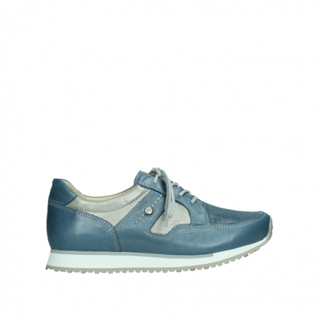 wolky lace up shoes 05811 e walk xw 87860 steel blue pearl stretch leather