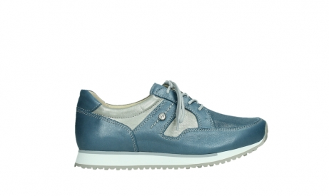 wolky lace up shoes 05811 e walk xw 87860 steel blue pearl stretch leather_1