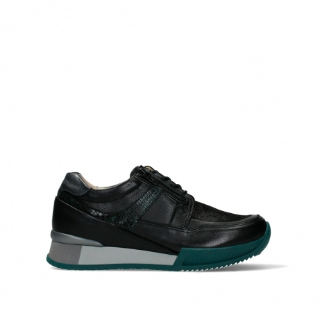 wolky lace up shoes 05880 banff 24088 black petrol leather