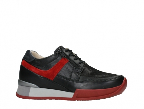 wolky lace up shoes 05880 banff 24050 black dark red stretch leather_2