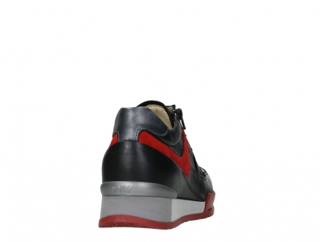 wolky lace up shoes 05880 banff 24050 black dark red stretch leather_20
