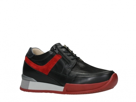 wolky lace up shoes 05880 banff 24050 black dark red stretch leather_3