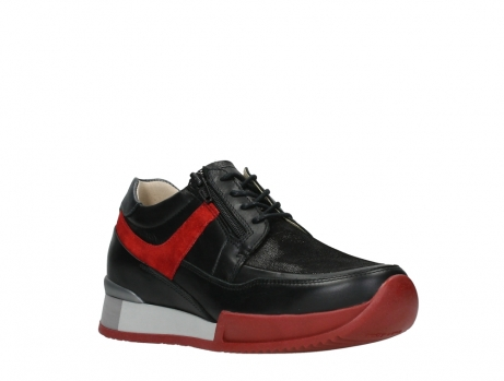 wolky lace up shoes 05880 banff 24050 black dark red stretch leather_4