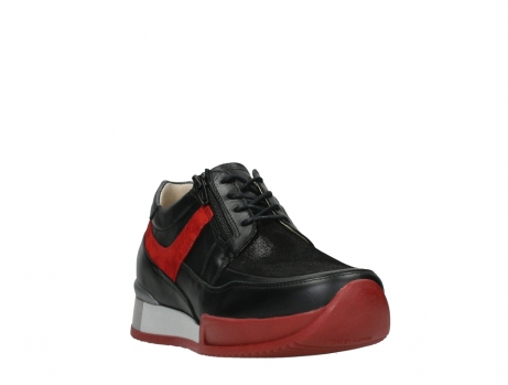 wolky lace up shoes 05880 banff 24050 black dark red stretch leather_5