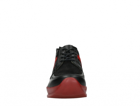 wolky lace up shoes 05880 banff 24050 black dark red stretch leather_7