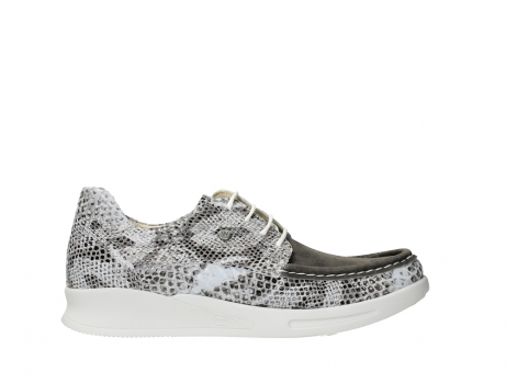 wolky lace up shoes 05901 one 91102 snakeprint stretch suede leather_1