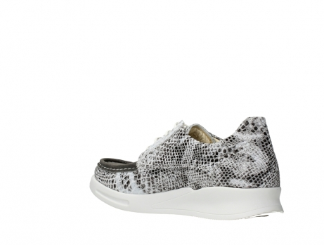 wolky lace up shoes 05901 one 91102 snakeprint stretch suede leather_16