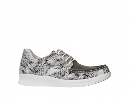 wolky lace up shoes 05901 one 91102 snakeprint stretch suede leather_2