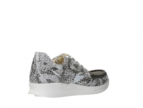 wolky lace up shoes 05901 one 91102 snakeprint stretch suede leather_22