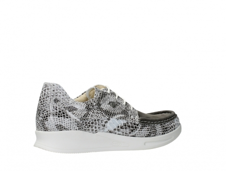 wolky lace up shoes 05901 one 91102 snakeprint stretch suede leather_23