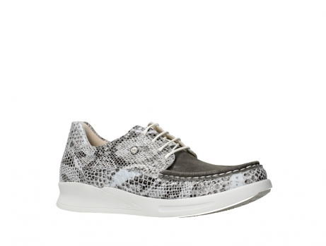 wolky lace up shoes 05901 one 91102 snakeprint stretch suede leather_3