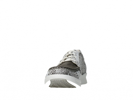 wolky lace up shoes 05901 one 91102 snakeprint stretch suede leather_8