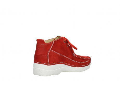 wolky lace up shoes 06200 roll moc 11570 red nubuck_10