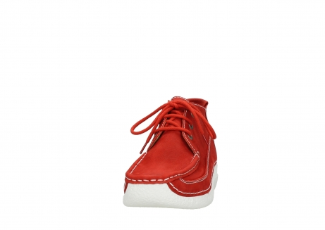 wolky lace up shoes 06200 roll moc 11570 red nubuck_20