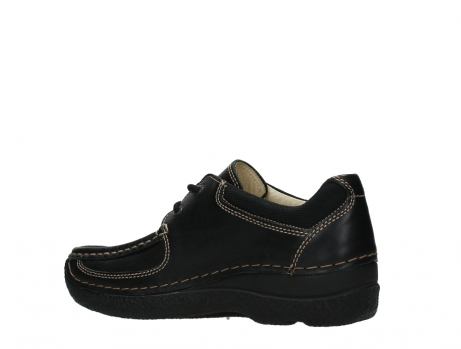 wolky lace up shoes 06216 roll shoe 30000 black leather_15