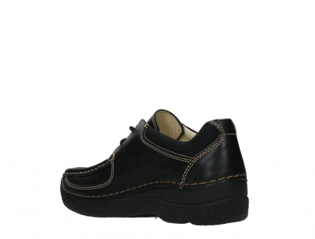 wolky lace up shoes 06216 roll shoe 30000 black leather_16