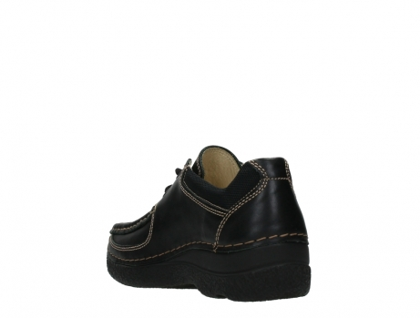 wolky lace up shoes 06216 roll shoe 30000 black leather_17