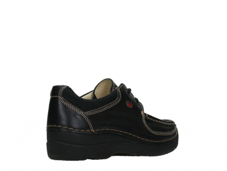 wolky lace up shoes 06216 roll shoe 30000 black leather_22