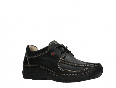 wolky lace up shoes 06216 roll shoe 30000 black leather_3