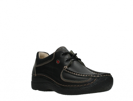 wolky lace up shoes 06216 roll shoe 30000 black leather_4
