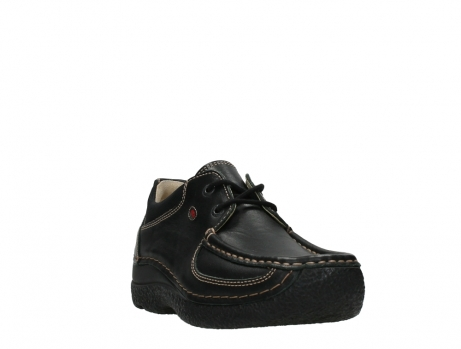wolky lace up shoes 06216 roll shoe 30000 black leather_5