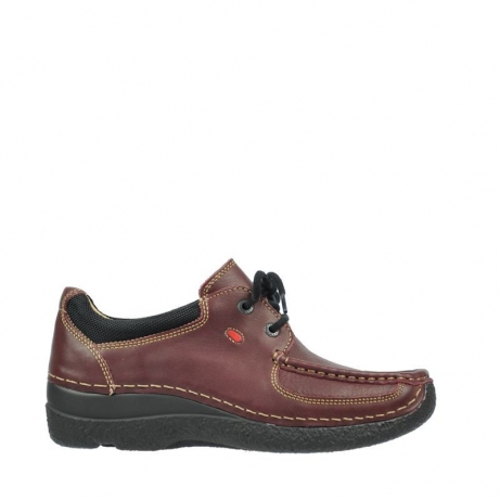 wolky lace up shoes 06216 roll shoe 30510 burgundy leather