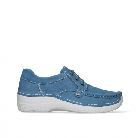wolky lace up shoes 06289 seamy up 11856 baltic blue nubuck