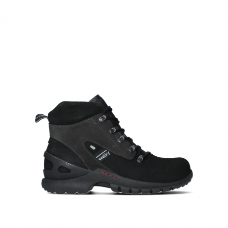 wolky lace up boots 06505 traction 16000 black nubuck