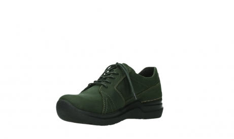 wolky lace up shoes 06609 feltwell 12735 forest green nubuck_10