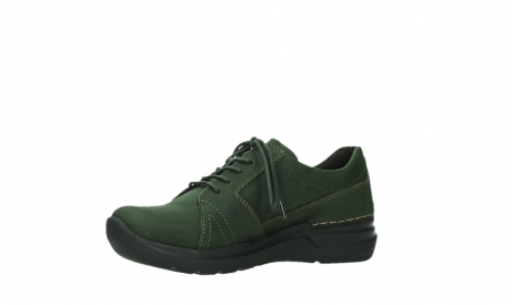 wolky lace up shoes 06609 feltwell 12735 forest green nubuck_11